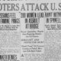 Carmelita Torres and the 1917 Bath Riots